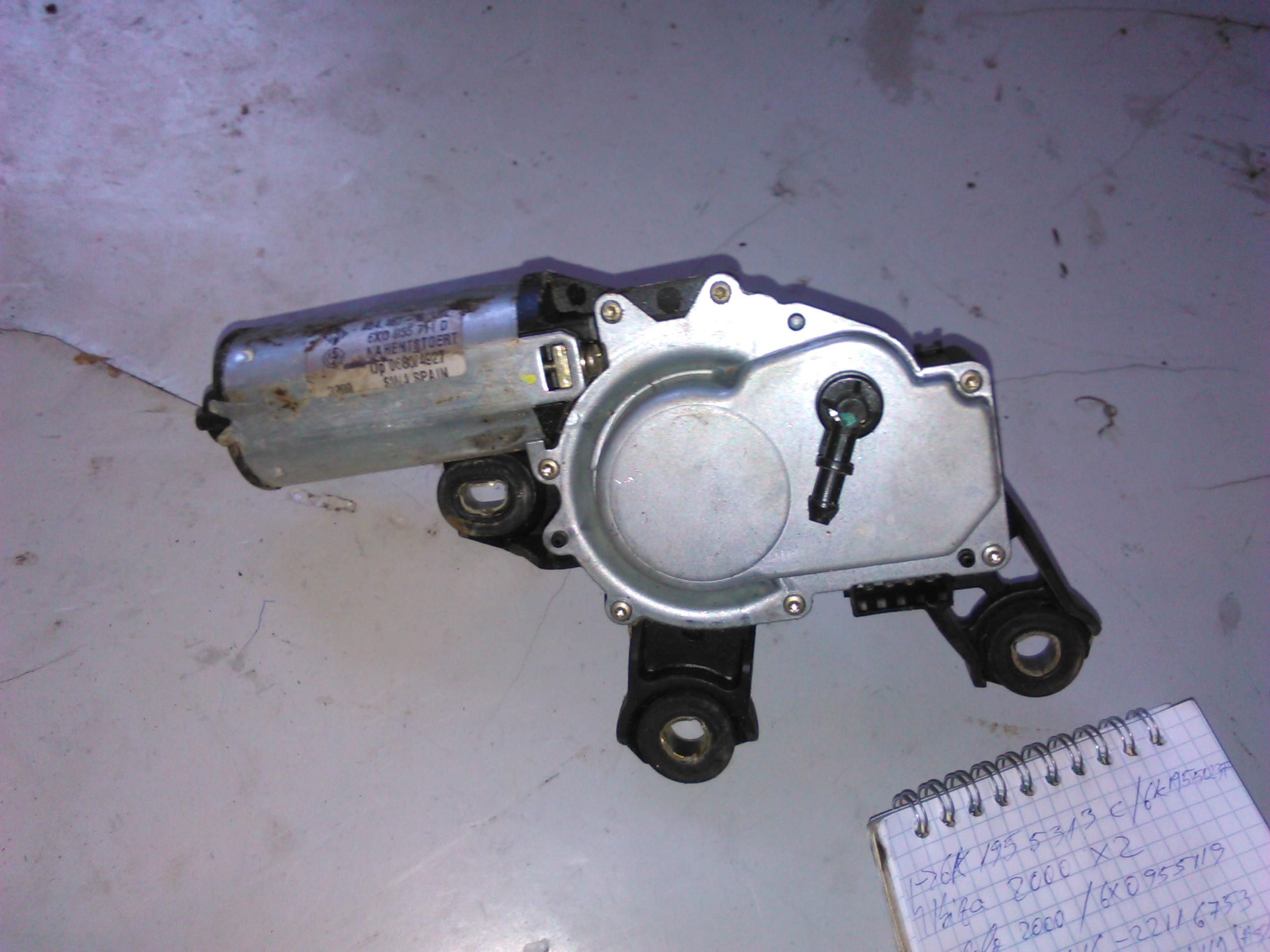 Motoras stergator haion Vw Polo 6N2 cod 6x0955711d
