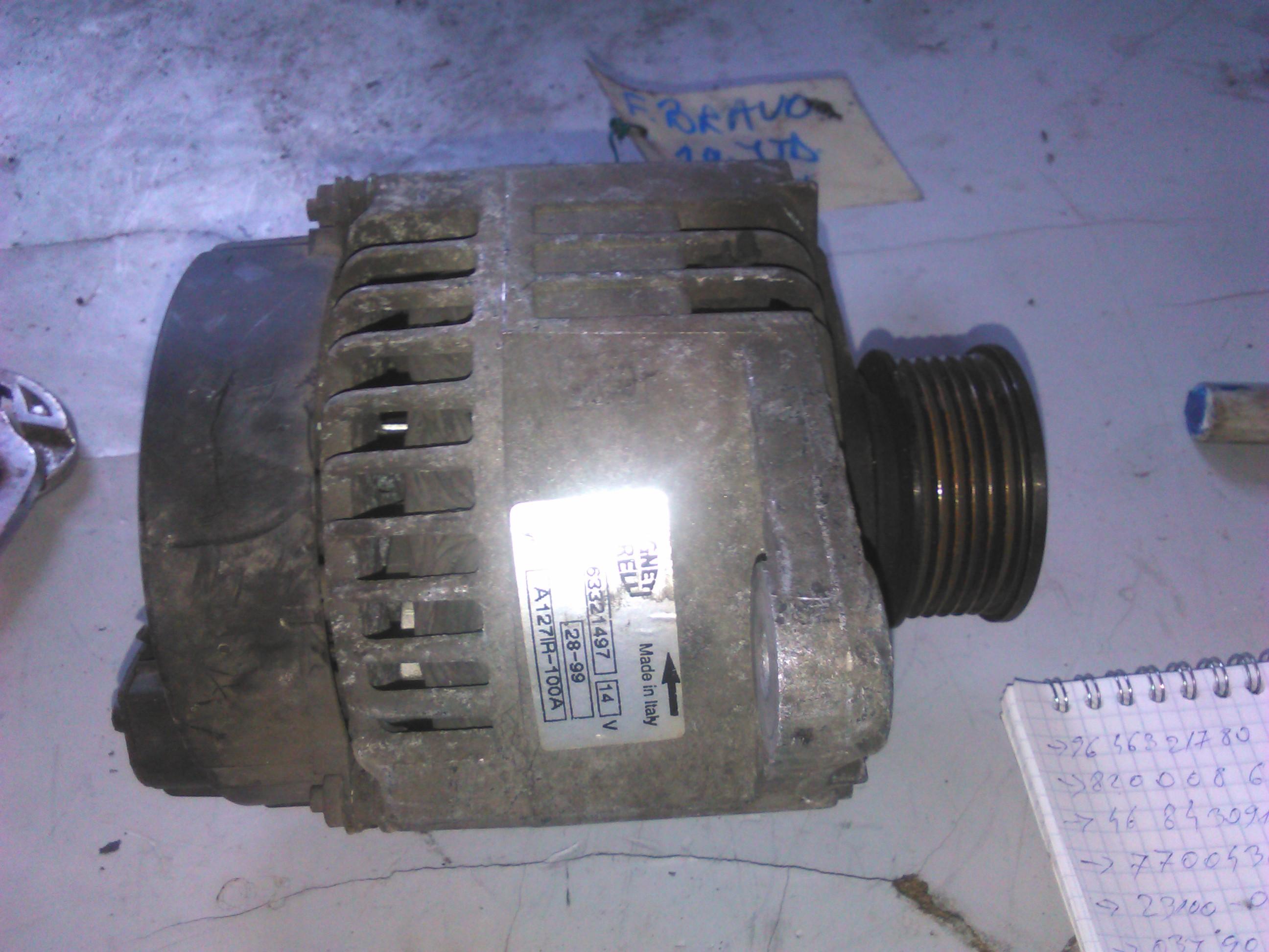 Alternator Fiat Bravo 1.9jtd cod 63321497
