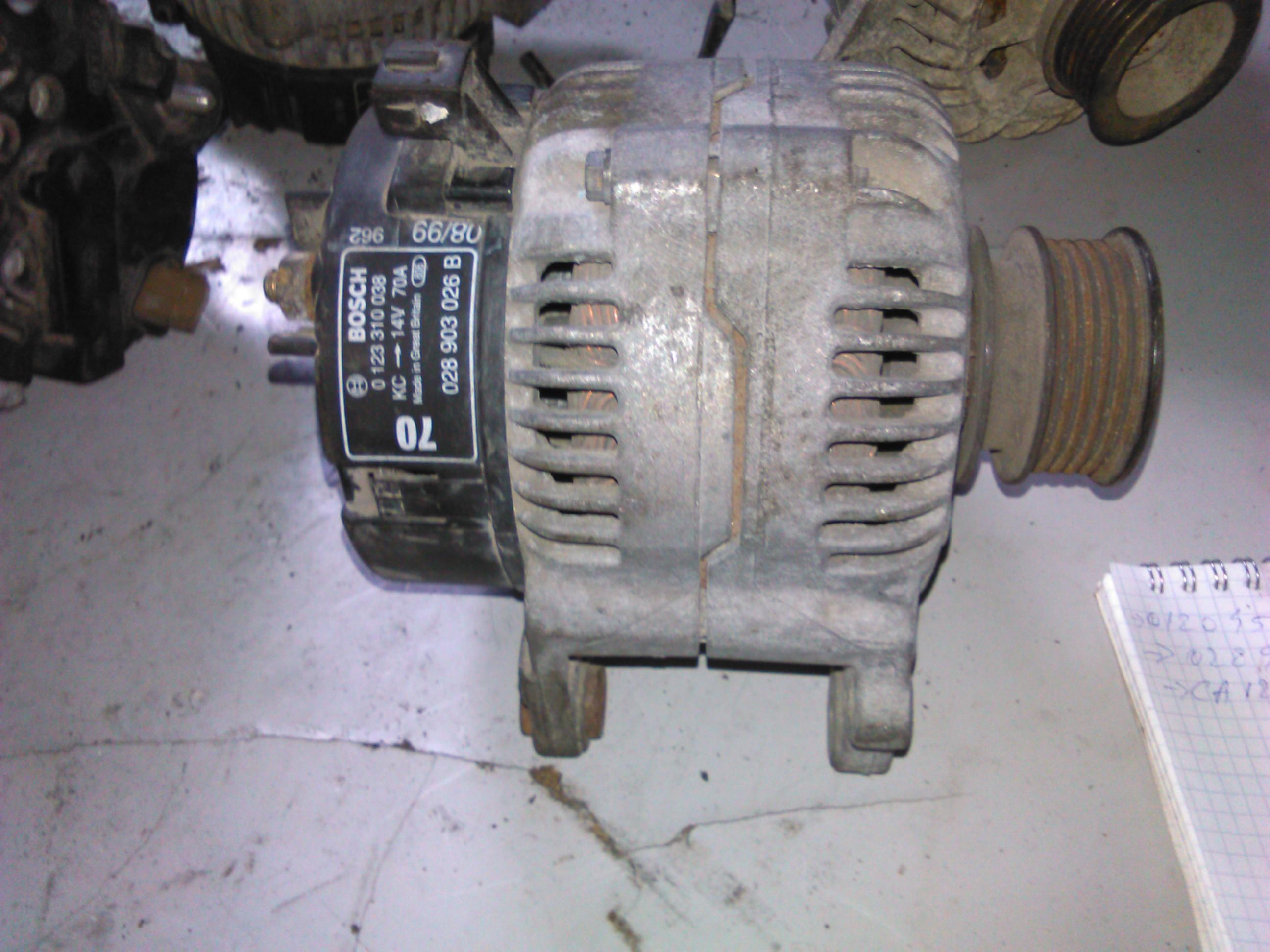 Alternator Vw Lupo 1.7sdi AKU cod 0123310038, 028903026b