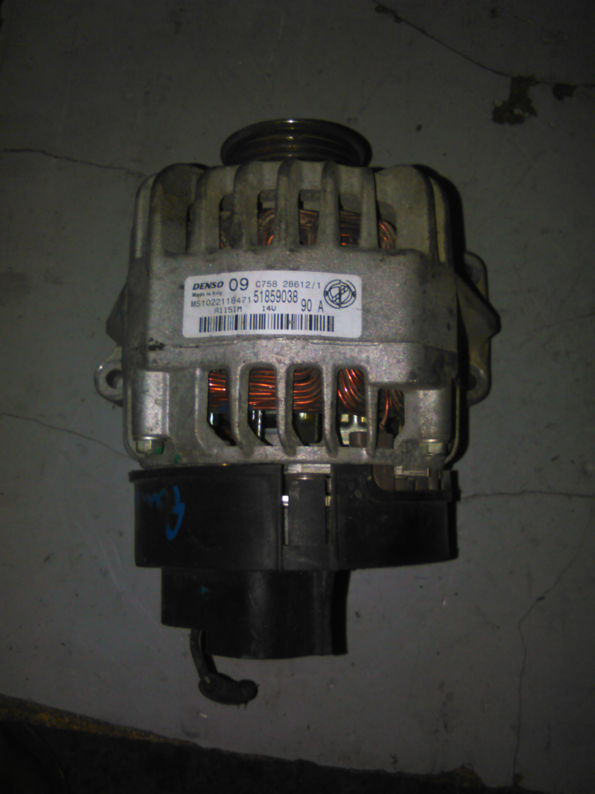 Alternator Fiat Punto 1.2, 1.4 motor 169A4000 cod ms1022118471
