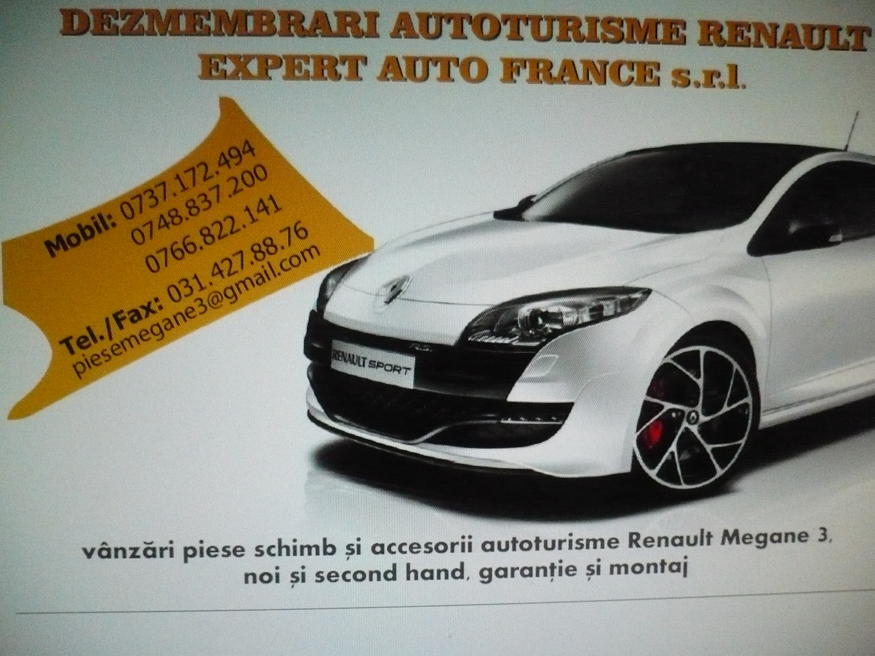 Dezmembrari Renault Megane 3 III  Coupe 1.4 TCE , 1.5 dCi (2009-2015)