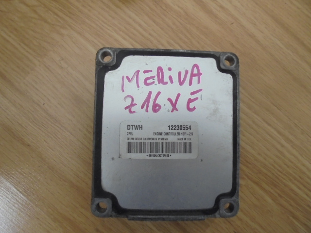 ecu opel meriva an 2003 motor z16xe cod12230554,hsfi 2.5