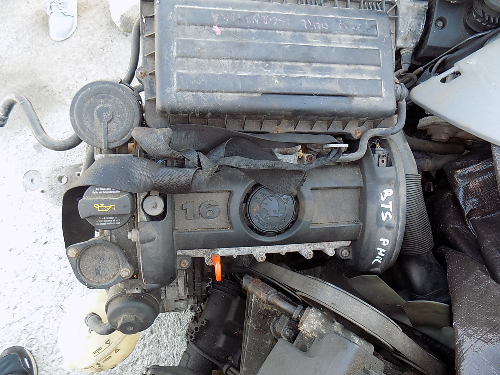 motor 1,6 benzina skoda fabia cod bts