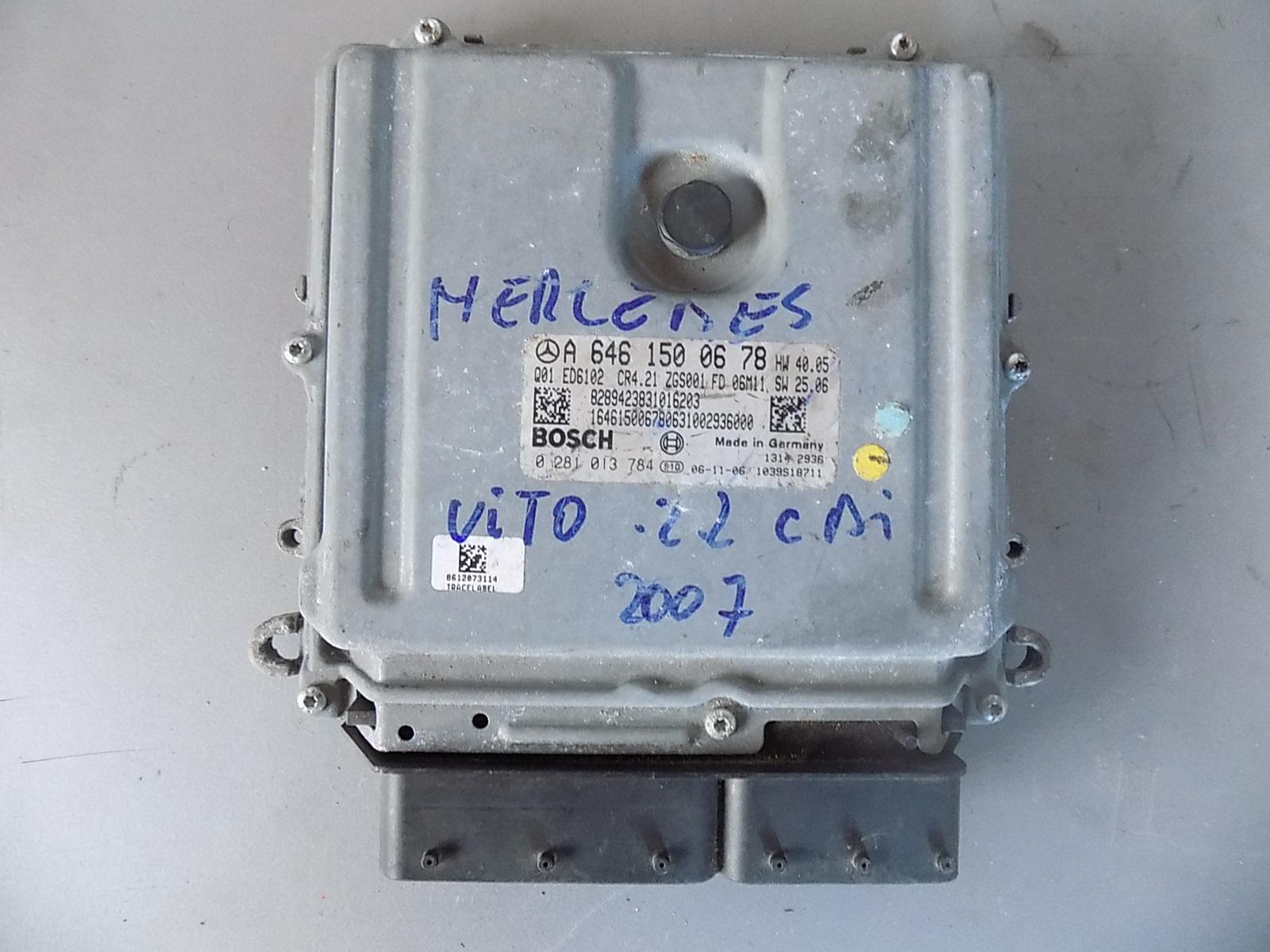 calculator ecu mercedes vito 2.2 cdi an 2007 cod A6461500678
