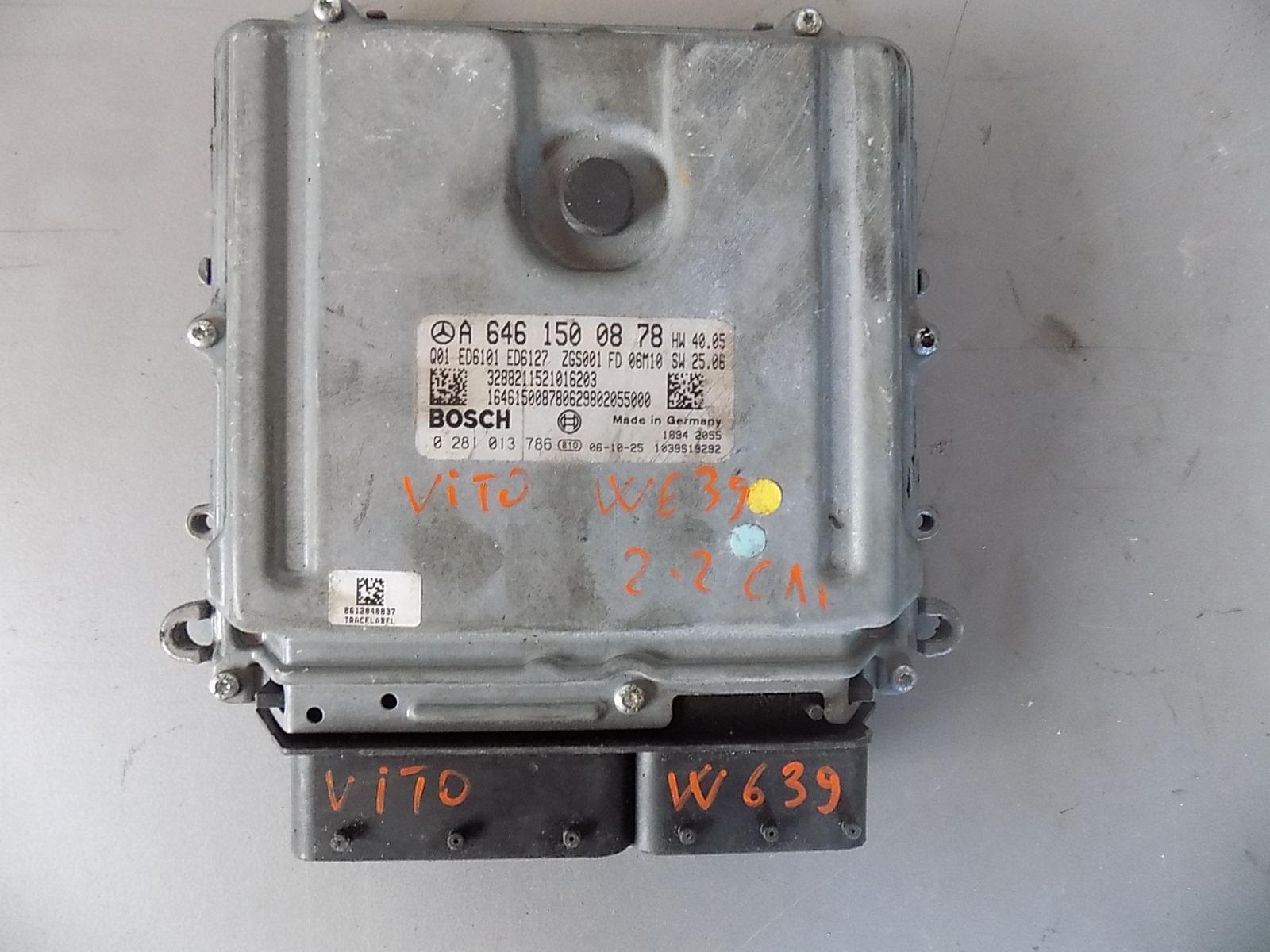 calculator ecu mercedes vito w639 , cod A6461500878