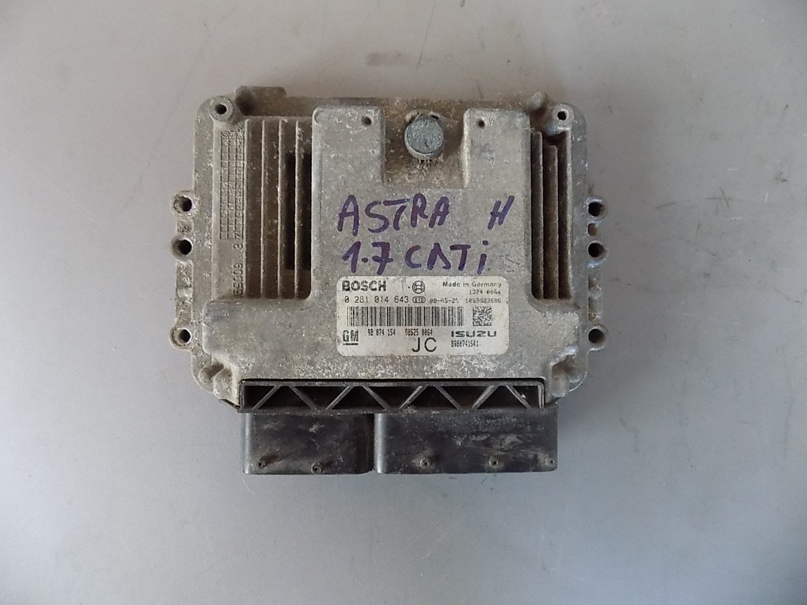 calculator ecu opel astra h 1.7 cdti cod 0281014643,8980741541